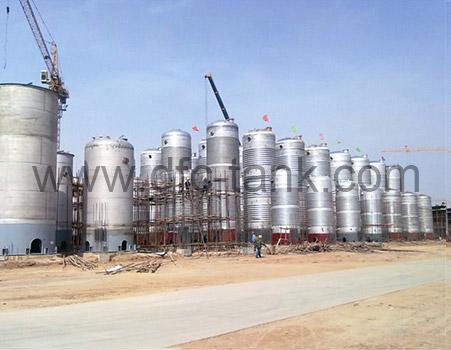 Fermentation tank installing site