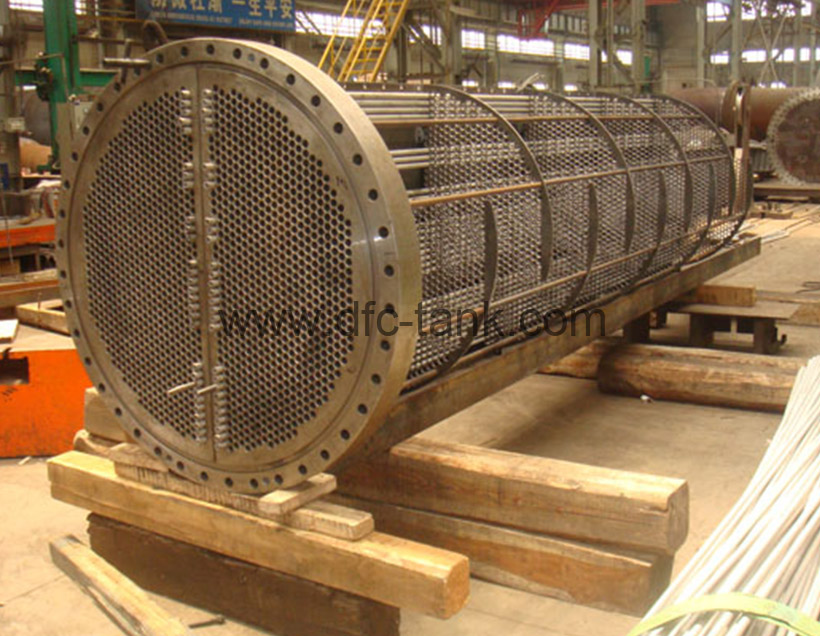 TEMA stainless tube bundle is being fabricated