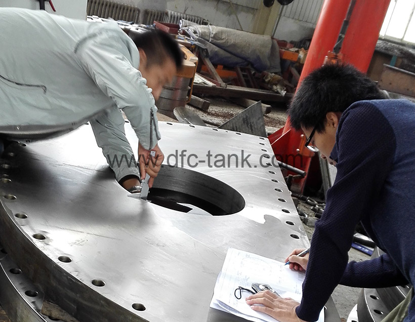 Cover is being inspect by ITP