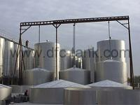 What are large storage tanks using for?