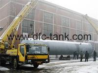 What are the general requirements for oxygen storage tank pressure test?